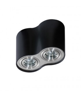 Azzardo AZ0782 BROSS 2 Black-aluminium (GM4200-BK-ALU)