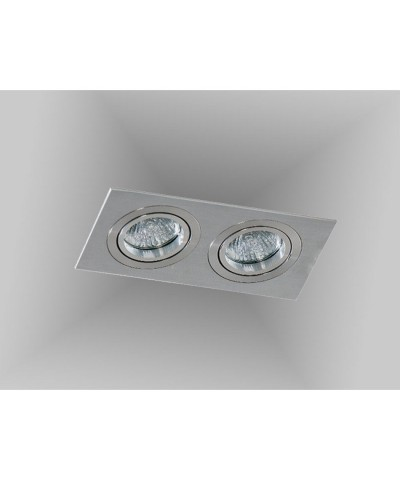 Точечный светильник Azzardo AZ2438 Caro 2 Square (SN-6812S-ALU)