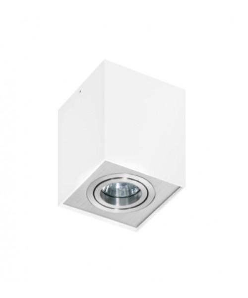 Точечный светильник AZZARDO GM4106-WH-ALU ELOY 1 White-Aluminium