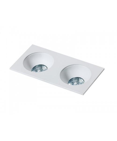 Точечный светильник AZZARDO GM2203-WH HUGO 2 Downlight White