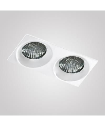 Точечный светильник Azzardo AZ1826 Ivo Square 2 (GM22002S-WH)