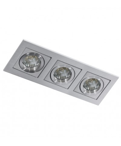 Точечный светильник AZZARDO AZ0801 PACO 3 Aluminium (GM2301-ALU)
