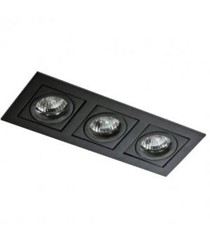 Точечный светильник AZZARDO AZ0803 PACO 3 Black (GM2301-BK)