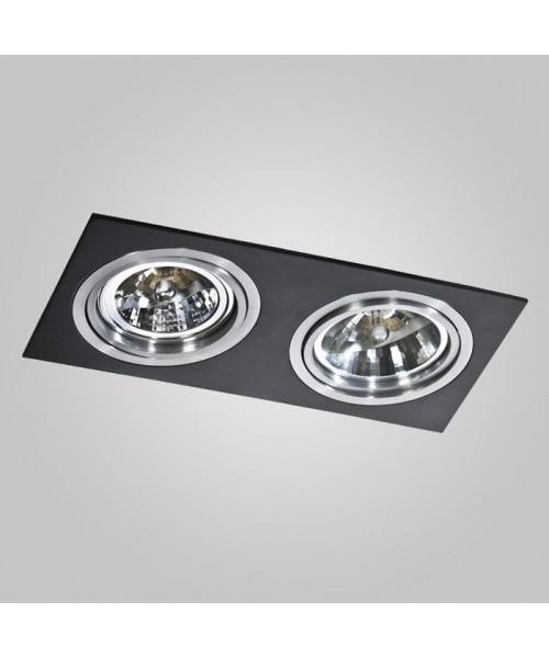 Точечный светильник Azzardo AZ0772 Siro 2 (GM2200 BK/ALU)