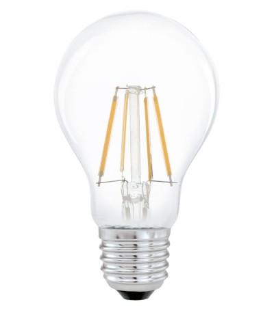 Лампа светодиодная Eglo 11491 A60 4W 2700K E27 Clear Фото 1