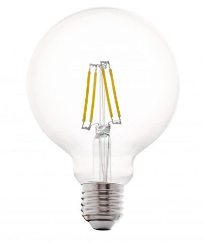 Лампа светодиодная Eglo 11502 G95 4W 2700K E27 Clear Фото 1