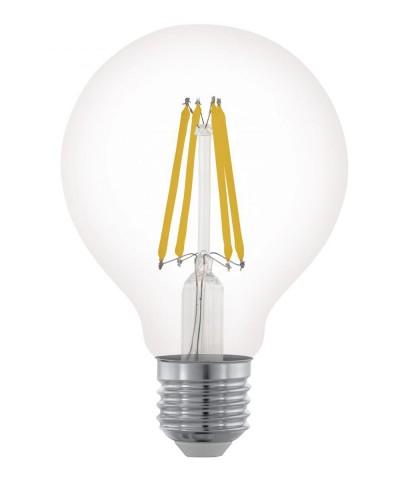 Лампа светодиодная Eglo 11702 G80 6W 2700K E27 Clear Фото 1