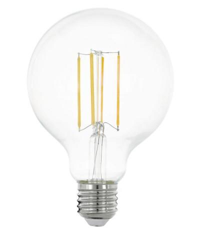 Лампа светодиодная Eglo 11756 G95 8W 2700K E27 Clear Фото 1