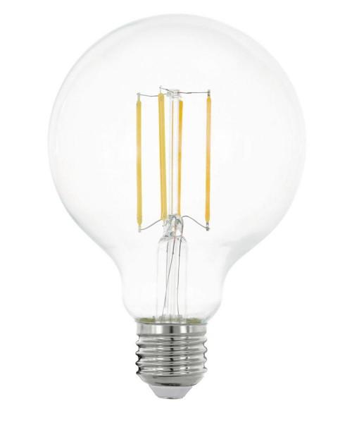 Лампа светодиодная Eglo 11756 G95 8W 2700K E27 Clear