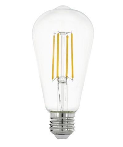 Лампа светодиодная Eglo 11757 ST64 7W 2700K E27 Clear Фото 1