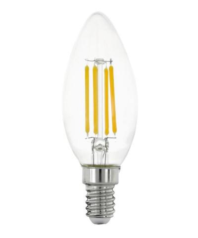 Лампа светодиодная Eglo 11759 C35 4W 2700K E14 Clear Фото 1