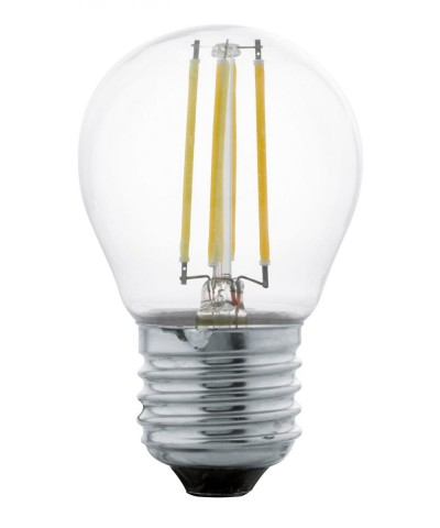Лампа светодиодная Eglo 11762 G45 4W 2700K E27 Clear Фото 1