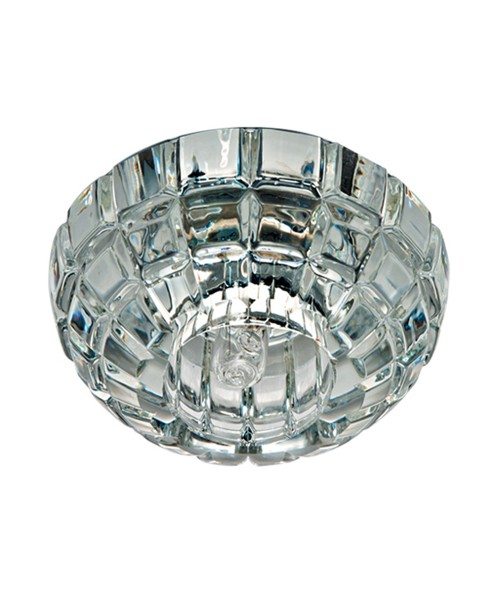 Точечный светильник FERON JD87 прозрачный хром 18859