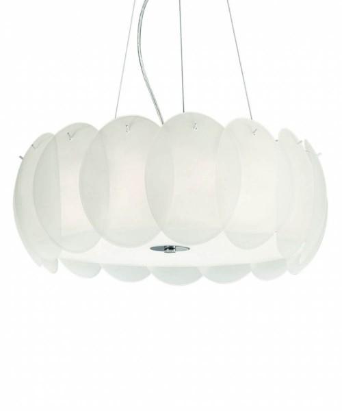 Подвесной светильник Ideal Lux 090481 OVALINO SP8 BIANCO