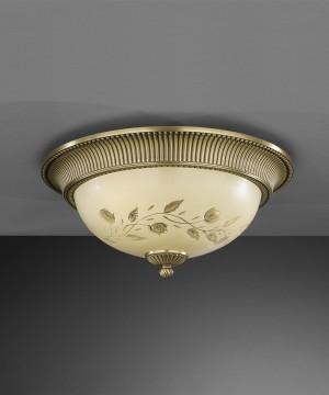 Потолочный светильник RECCAGNI ANGELO PL. 6208/3 Bronzo Arte
