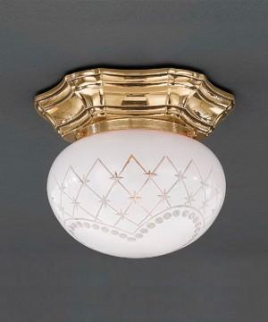 Точечный светильник RECCAGNI ANGELO PL 7830/1 Oro Francese