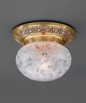 Точечный светильник RECCAGNI ANGELO PL 7841/1 Oro Francese