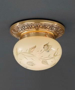Точечный светильник RECCAGNI ANGELO PL 7842/1 Oro Francese