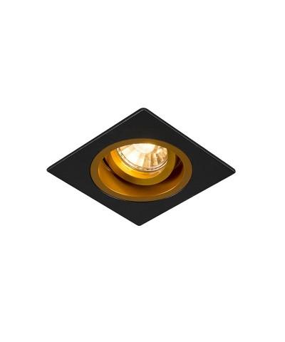 Точечный светильник Zuma Line 92706 Chuck Dl Square Black-Gold