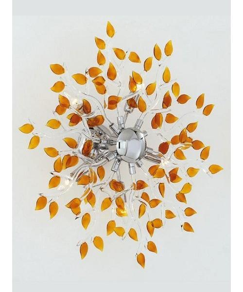 Подвесная люстра IDEAL LUX 114606 SPRING PL5 AMBRA